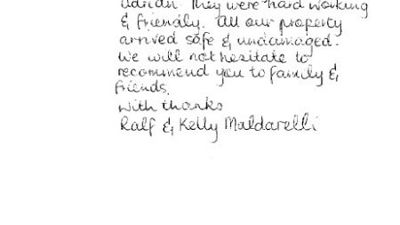 Testimonial from Ralf and Kelly Maldarelli