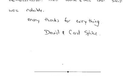 Testimonial from David and Carol Spike